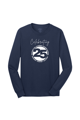 Adult Unisex Navy Long Sleeve Tee Shirt
